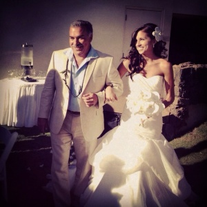 Walking down the aisle with my dad! September 1st, 2012